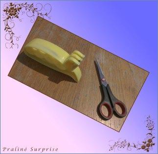 Eine scharfe Schere ist unbedingt nötig ;)